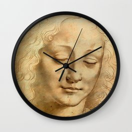 "Leonardo da Vinci ""Woman's head"" 1. Wall Clock"
