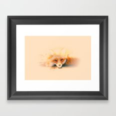 Soft and Foxy Framed Art Print