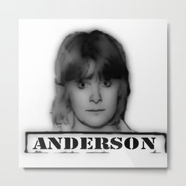 ANDERSON Metal Print