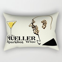 Mueller sparkling wine Rectangular Pillow