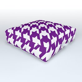 Purple houndstooth pattern Outdoor Floor Cushion