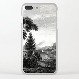 A design to represent the beginning and completion of an American settlement or farm Clear iPhone Case