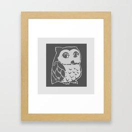 Grey Owl Art Framed Art Print