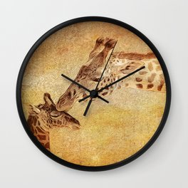 A Mother's Kiss Painted Wall Clock