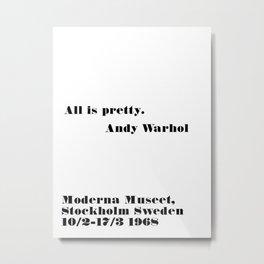 all is pretty Metal Print