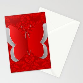 Cutout paper butterfly Stationery Cards