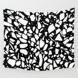 Terrazzo Spot 2 Black Wall Tapestry