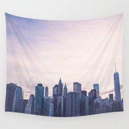 Lower Manhattan Skyline Wall Tapestry