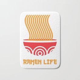 Japanese Ramen Noodles Gift Print Kawaii Anime Ramen Life\ Print Bath Mat