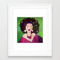 geisha Framed Art Prints featuring GEISHA by SAMHAIN
