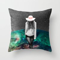 alone Throw Pillows featuring Alone by Cs025