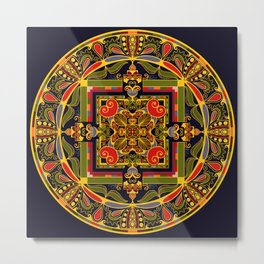 Heart Mandala Metal Print