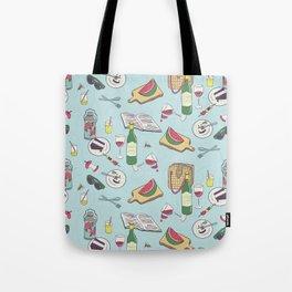messy picnic Tote Bag