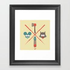 Fight & Bite Framed Art Print