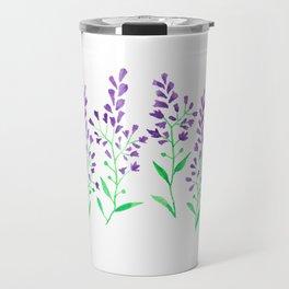 Purple Delphinium Travel Mug