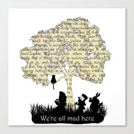 We're All Mad Here II - Alice In Wonderland Silhouette Art Canvas Print
