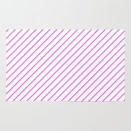 Diagonal Lines (Violet/White) Rug