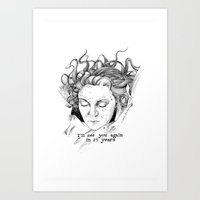 laura palmer Art Prints featuring Laura Palmer by Paula Benítez