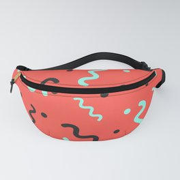 Red waves Fanny Pack