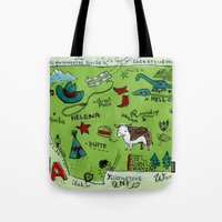 montana Tote Bags featuring MONTANA by Christiane Engel
