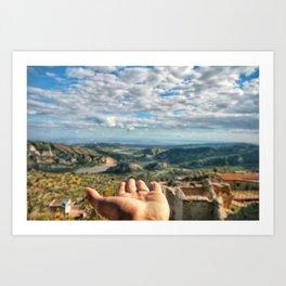 Calabria view Art Print