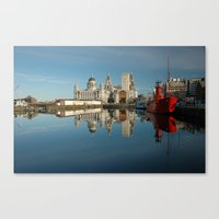 liverpool Canvas Prints featuring Liverpool Luminations by Jonah Anderson
