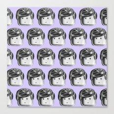 Minifigure Pattern - Violet Canvas Print