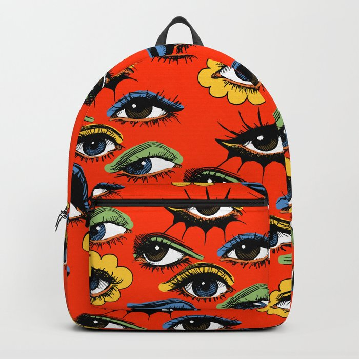 60s Eye Pattern Backpack