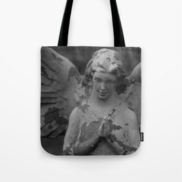 Cemetery Angel Statue Tote Bag
