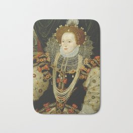 Portrait of Elizabeth I Bath Mat