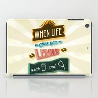 tequila iPad Cases featuring TYPOGRAPHY TEQUILA by magdam