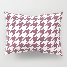Purple, Mulberry: Houndstooth Pattern Pillow Sham