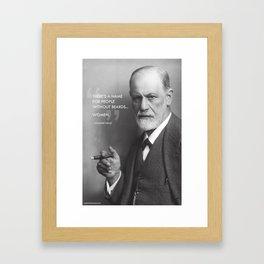 Sigmund Freud - Beards Framed Art Print