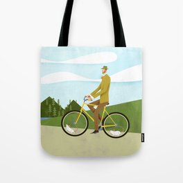 Road Cycling With Rodent Power Poster Tote Bag