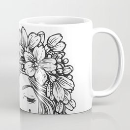 Black and White Flora Coffee Mug