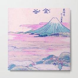 Mount Fuji Ukiyo-e Japanese Vintage Art Metal Print