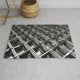 Rebar On Rebar - Industrial Abstract Rug