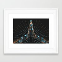 namaste Framed Art Prints featuring Namaste by Follow-d