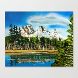 Three Sisters Canmore Alberta Canvas Print