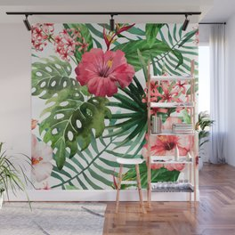 tropical hibiscus Wall Mural