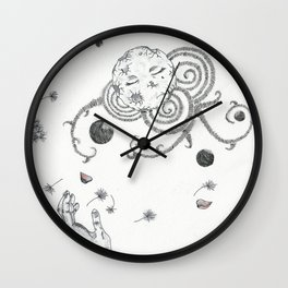 with Eyes closed Wall Clock