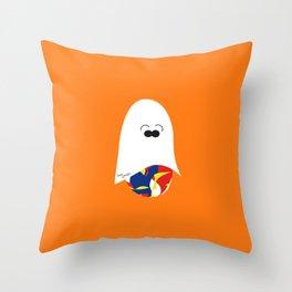 Ghost Jelly Bean,  Bonbon fantôme - Halloween party Throw Pillow