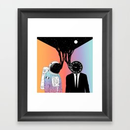 A Portrait of Space and Time ( A Study of Existence) Framed Art Print