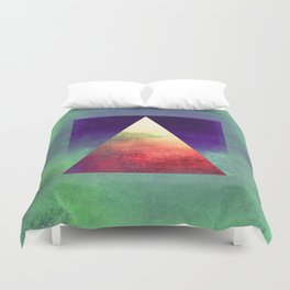 Triangle Composition VII Duvet Cover