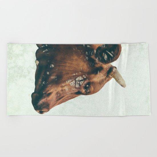 Portrait of Bess Beach Towel