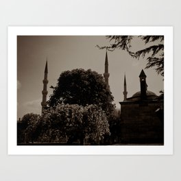 "Sultan Ahmed Mosque (""Blue Mosque"", Istanbul, TURKEY) from Sultan Ahmet Park Art Print"