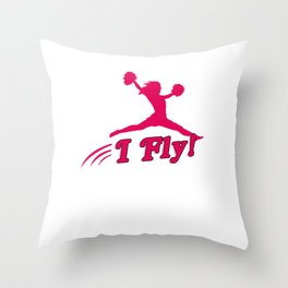 Cheerleader I Fly Throw Pillow