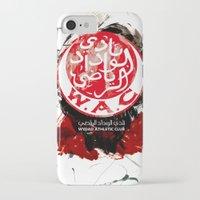 casablanca iPhone & iPod Cases featuring WAC Wydad Casablanca by Genco Demirer