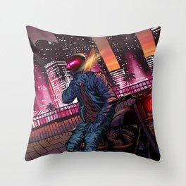 Miami Turbo Killer Throw Pillow