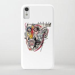 Basquiat Crazy Head iPhone Case